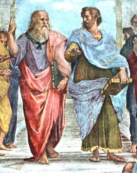 Aristotele e Platone dipinti da Raffaello